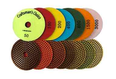 Craftsman's Choice 7 Step Wet Polishing Pads