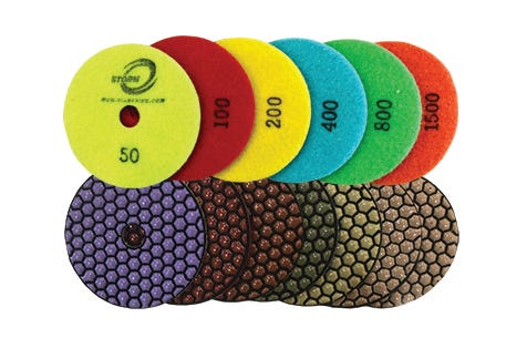 Cyclone Dry Polishing Pads