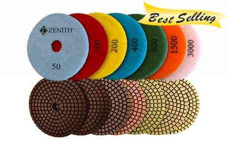 Zenith 7 Step Wet Polishing Pads