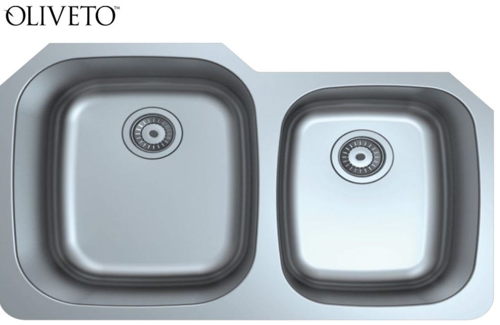 Oliveto Porcelain and Stainless Sinks