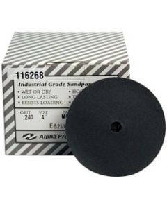 "4"" Alpha QRS Silicon Carbide Sanding Discs"