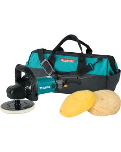 "MAKITA KIT, 9237CX3 7"" VARIABL SPEED POLISHER W/PADS & BAG"
