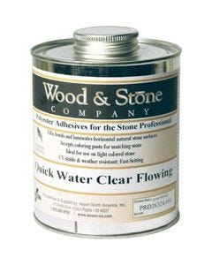 WOOD & STONE WATER CLEAR FLOWING POLYESTER, QUART