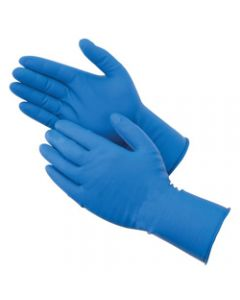 BIOSKIN BLUE POWDER FREE LATEX GLOVES XL 50/BOX