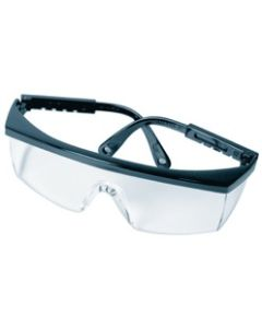 SAFETY GLASSES, ADJUSTABLE, CLEAR, UV & ANTI-SCRATCH LENS