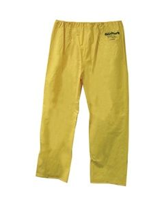 WATERPROOF PANTS, LARGE        YELLOW, WITH GRANQUARTZ LOGO