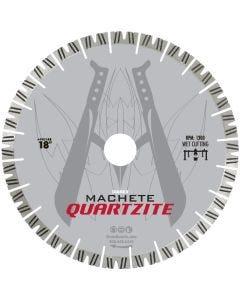 """DIAREX MACHETE QUARTZITE BLADE 18"""" 25MM SEG. 50/60 ARBOR"""