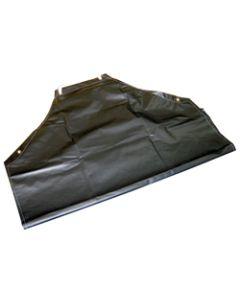 "STONE CUTTER'S APRON BLACK W NECK & TIE STP 35""X48"" VINYL"
