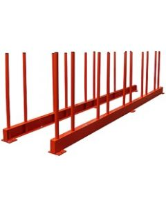 "ABACO REMNANT RACK 118"" RES27 2200# 2 RAILS & 20 POLES"