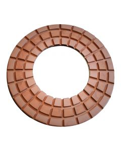 "9"" Lavina Waffel Heavy Duty Copper Polishing Pads"