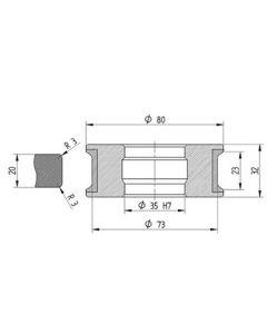Diamut KPL T23 R3 80 x 35