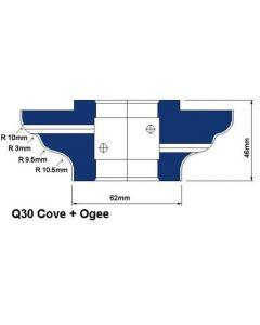 MEM Q30 Cove + Ogee CNC Wheels