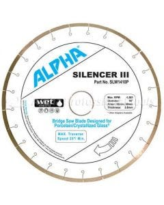 "ALPHA SILENCER III 12"" PORCE & CRYSTAL GLASS 1"" ARBOR"