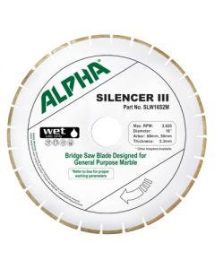 "ALPHA 16"" SILENCER III BLADE FOR MARBLE"