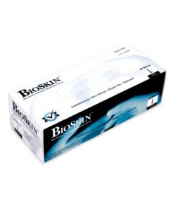 BIOSKIN BLUE POWDER FREE LATEX GLOVES LARGE 50/BOX