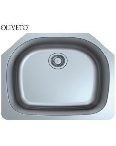 OLIVETO STAINLESS STEEL SINK 16 GA D-SHAPE SINGLE BOWL