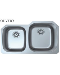 OLIVETO STAINLESS STEEL SINK 16 GA 40/60