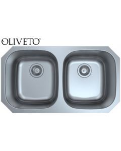 OLIVETO STAINLESS STEEL SINK 16 GA 50/50