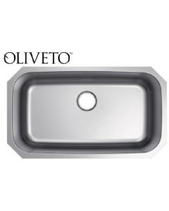 OLIVETO STAINLESS STEEL SINK 16 GA LARGE SINGLE BOWL