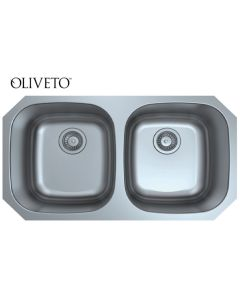 OLIVETO STAINLESS STEEL SINK  18 GAUGE 50/50 6