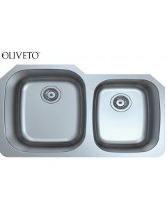 OLIVETO STAINLESS STEEL SINK  18 GAUGE 60/40
