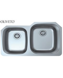 OLIVETO STAINLESS STEEL SINK  18 GAUGE 40/60 REVERSE